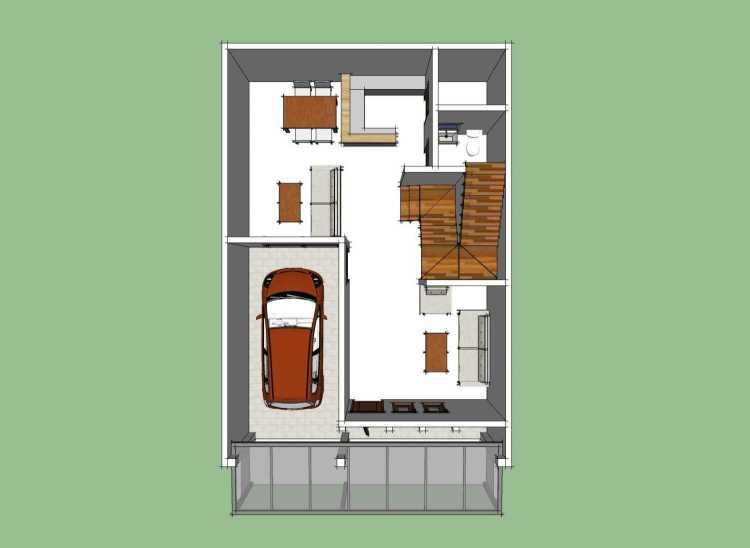 denah rumah minimalis 3 kamar ukuran 7x9