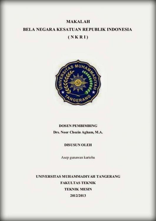 Contoh Cover Makalah Lengkap Individu Kelompok Mahasiswa