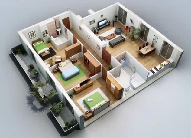 desain rumah minimalis 3 kamar