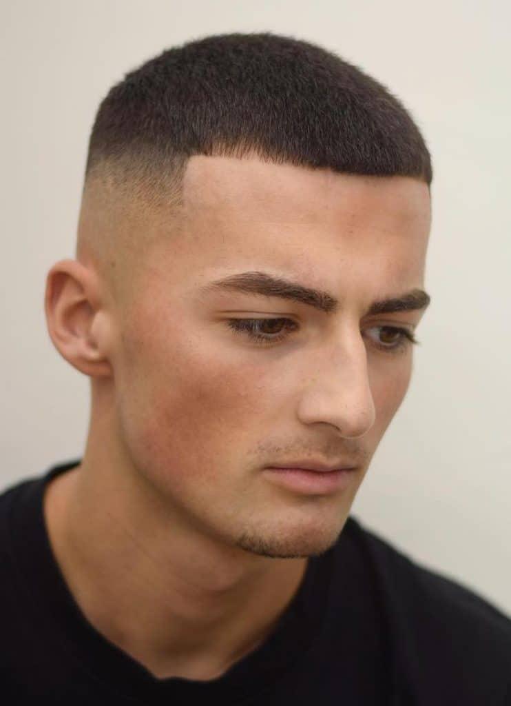 rambut pria buzz cut
